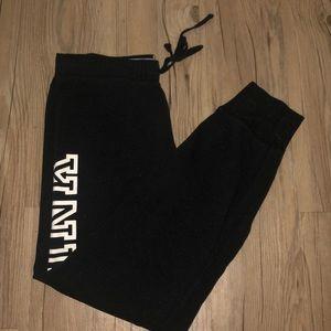 Black & white sweat pants